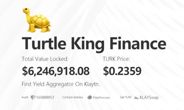 터틀킹 파이낸스가 출시 한달 만에 예치 자산 620만달러를 돌파했다