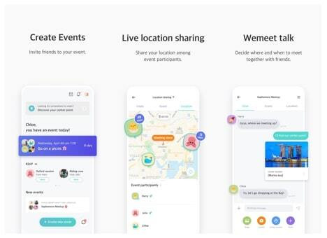 위밋플레이스 글로벌 서비스 화면