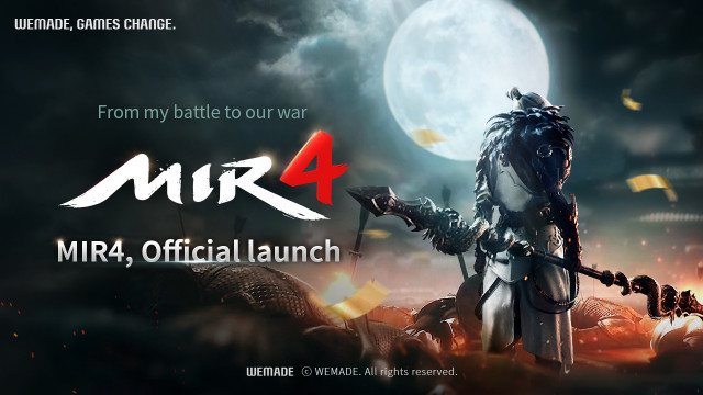 Blockbuster MMORPG 'MIR 4' by Wemade Co., Ltd., with blockchain technology, is officially released i...