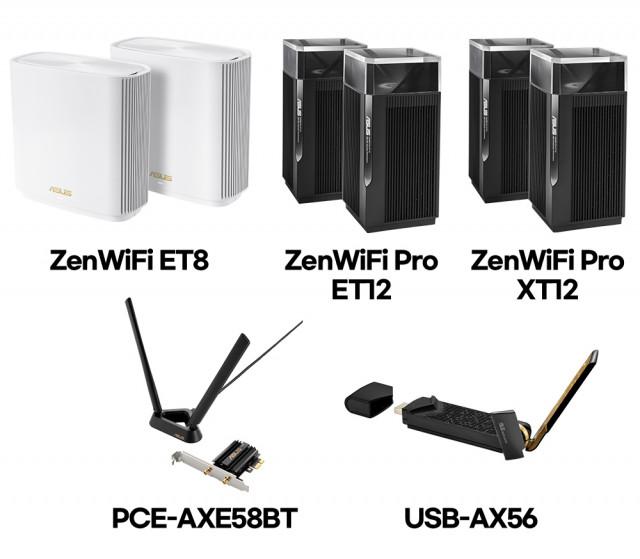 ASUS WiFi 6E 및 WiFi 6 네트워킹 제품군