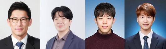 왼쪽부터 박정원 서울대학교 화학생물공학부 교수, 노성훈 생명과학부 교수, 강민호 화학생물공학부 연구원, 박준선 생명과학부 연구원