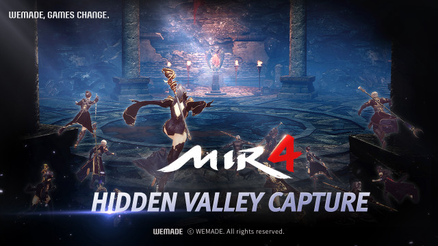 Wemade's MMORPG MIR4 has its first large-scale update including Hidden Valley Capture, a battle betw...